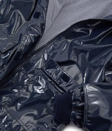 Impermeable reforzado para niña azul Smoking