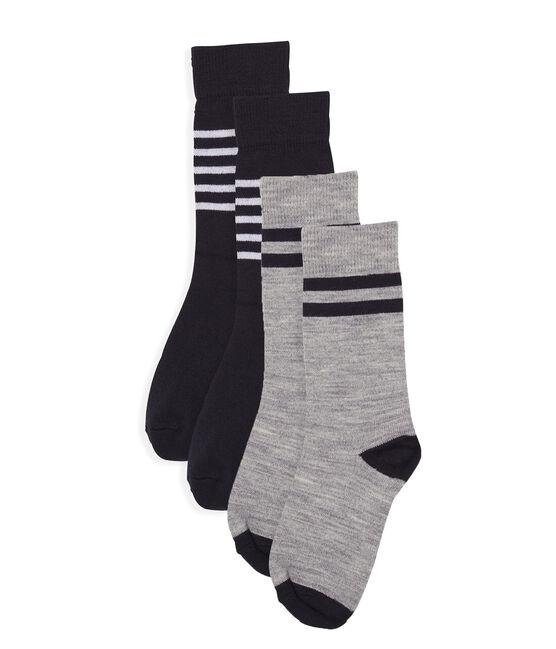Lote de 2 pares de calcetines infantiles altos y cálidos para niño lote .