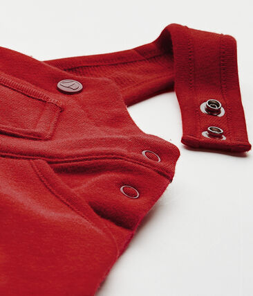Peto para bebé niño en muletón rojo Terkuit