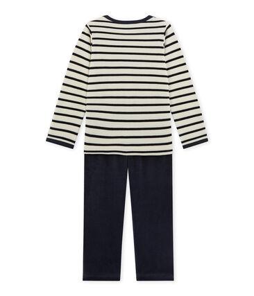 Pijama para niño de terciopelo