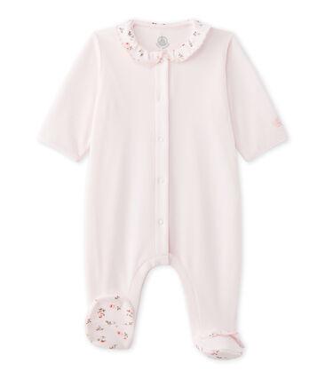 Pijama terciopelo para bebé niña rosa Vienne