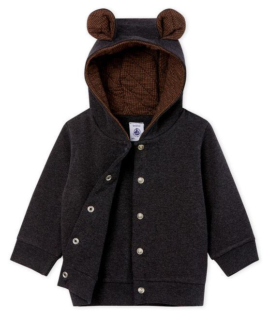 Sudadera con capucha de punto de elastano para bebé niño gris City Chine
