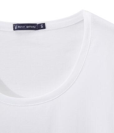 Camiseta en jersey ligero con cuello redondo para mujer