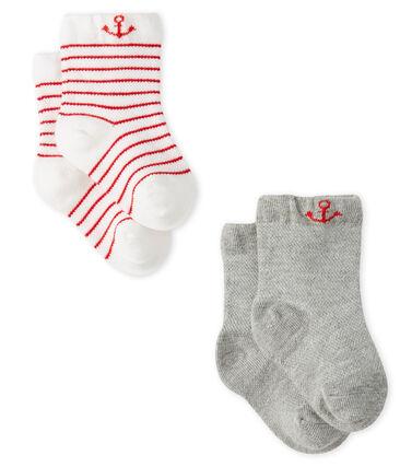 Lote de 2 pares de calcetines ligeros para bebé niño