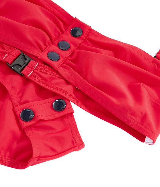 Traje de baño de 2 piezas ecorresponsable rojo Peps