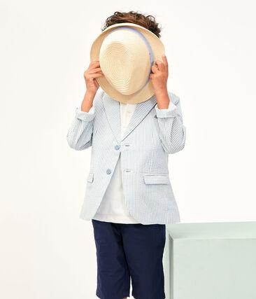 Chaqueta de niño azul Fontaine / blanco Marshmallow