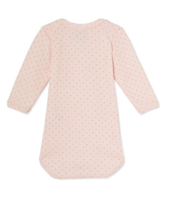Body de manga larga de lana y algodón para bebé niña rosa Vienne / rosa Gretel