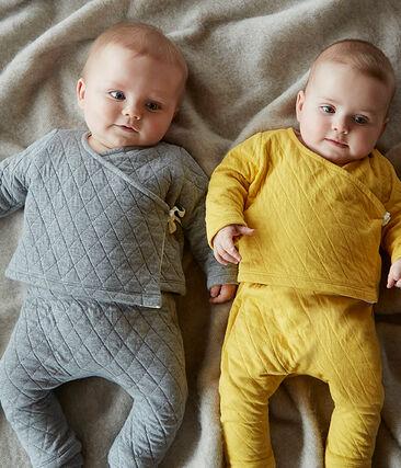 Conjunto de dos piezas para bebé de túbico acolchado amarillo Ble