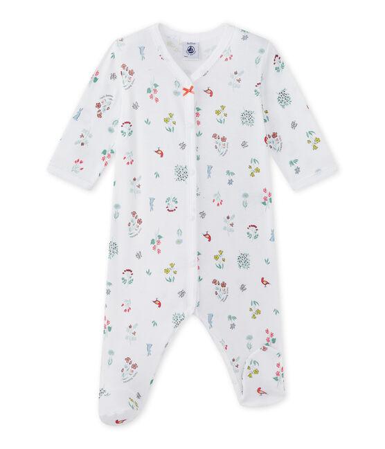 Pijama estampado para bebé niña blanco Ecume / blanco Multico