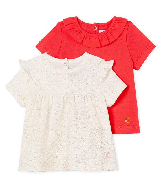 Camisetas manga corta para bebé niña lote .