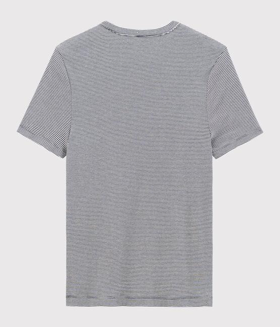 Camiseta de manga corta para hombre azul Smoking / blanco Marshmallow