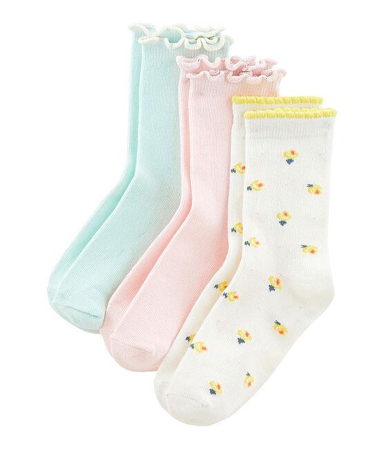 Lote de 3 pares de calcetines niña lote .