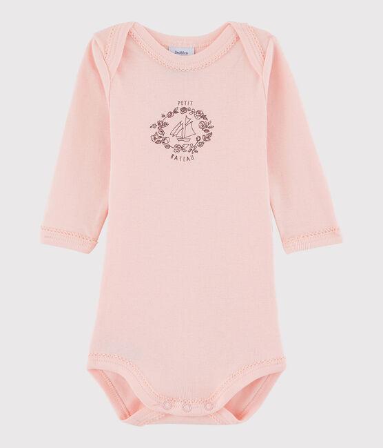 Bodi de manga larga de bebé niña rosa Venus