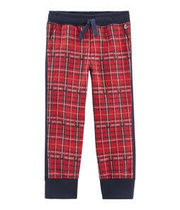 Pantalón de malla escocesa para niño