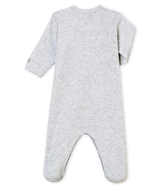 Pelele de noche para bebé niño gris Poussiere / blanco Marshmallow
