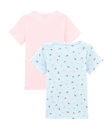 Pack de 2 camisetas de manga corta para niña