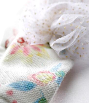 Turbante con borlas para bebé niña blanco Marshmallow / blanco Multico