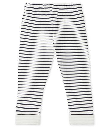 Pantalón de tejido túbico estampado para bebé niño blanco Marshmallow / azul Smoking