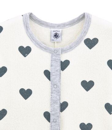 Pijama peto para niña en rizo esponja afelpado extra cálido