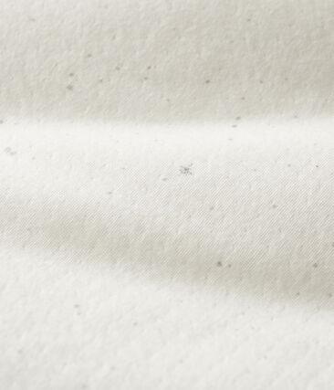 Saco con capucha para bebé de túbico blanco Marshmallow