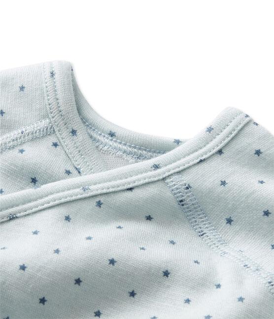 Body de manga larga de lana y algodón de primera puesta para bebé niño azul Fraicheur / gris Tempete