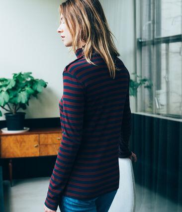 Camiseta de cuello alto para mujer