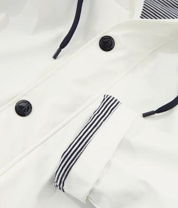 Impermeable emblemático unisex blanco Marshmallow