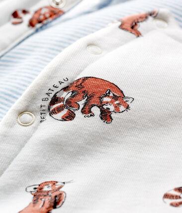 Chaleco sin mangas reversible de punto con forro para bebé niño blanco Marshmallow / blanco Multico