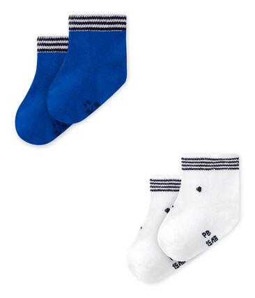 Lote de 2 pares de calcetines bebé mixtos
