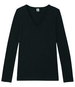 Camiseta de manga larga icónica de mujer negro Noir