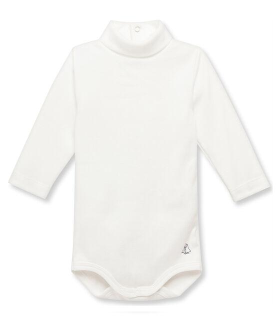 Body bebé con cuello alto beige Coquille