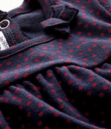 Camiseta de manga corta azul Smoking / rojo Terkuit