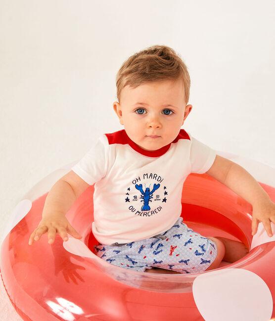 Pantalón corto estampado para bebé niño blanco Marshmallow / blanco Multico