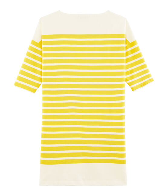 Vestido para mujer amarillo Shine / blanco Marshmallow