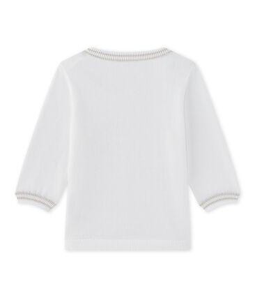Jersey de bebé niño de punto blanco Marshmallow