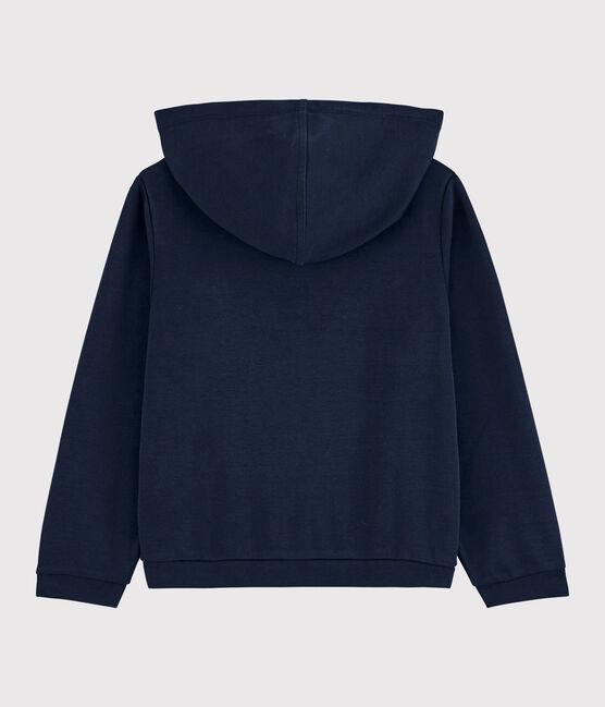 Camiseta con capucha de niña azul Smoking