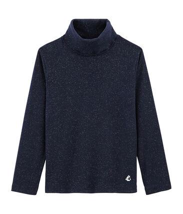 Jersey de cuello alto para niña azul Smoking / amarillo Or