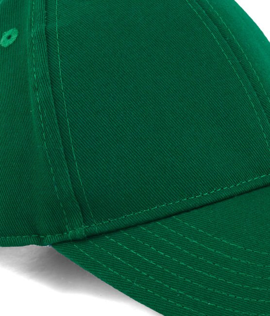 Gorra infantil unisex verde Ecology