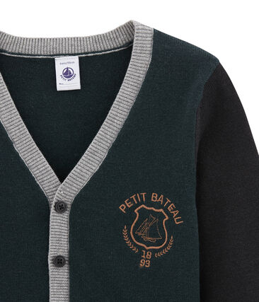 Cárdigan para niño en mezcla de lana