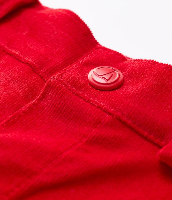 Pantalón de terciopelo para bebé. rojo Terkuit