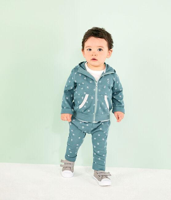 Sudadera con capucha estampada para bebé azul Brut / blanco Marshmallow
