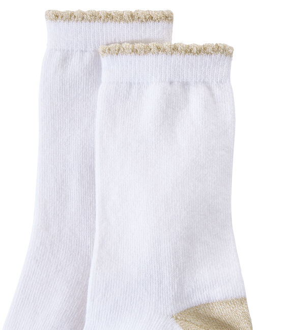 calcetines lisos para niña blanco Marshmallow