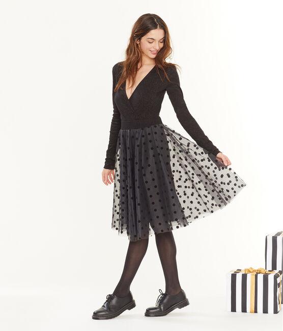 Falda de tul para mujer negro Noir
