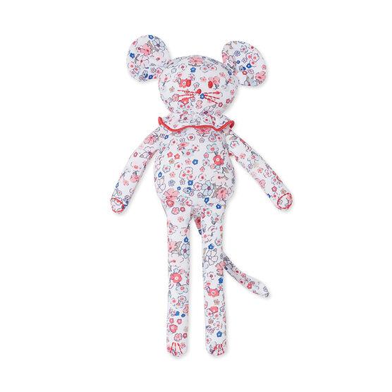 Doudou bébé souris imprimé blanco Ecume / rosa Gretel