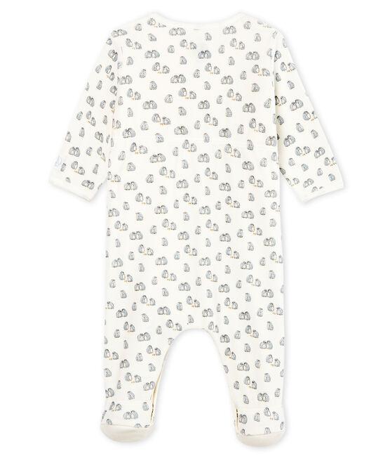 Bodyjama para bebé niño de terciopelo blanco Marshmallow / blanco Multico