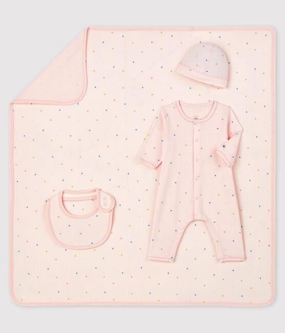 Estuche de regalo de nacimiento de tejido acanalado para bebé niña lote .