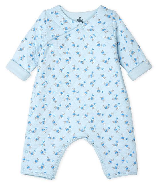 Mono largo de bebé unisex azul Fraicheur / blanco Multico