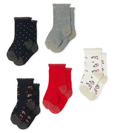 Lote de 5 pares de calcetines para bebé niña lote .