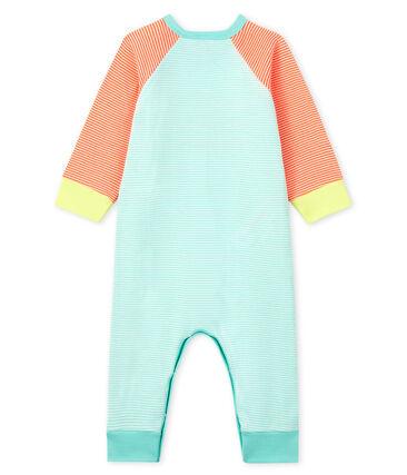 Pijama sin pies de punto naranja Coral / blanco Marshmallow