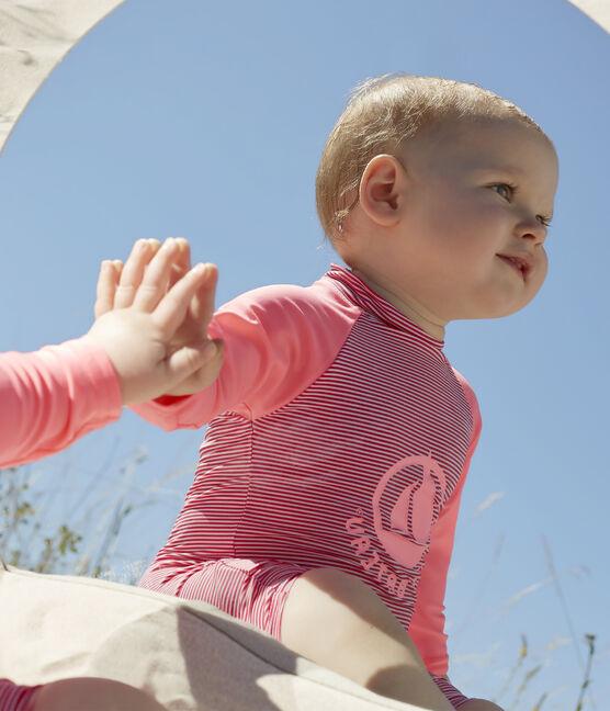 Mono ecorresponsable para bebé niña/niño rosa Geisha / blanco Marshmallow